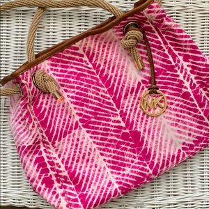 MK Canvas Hobo Bag with Rope Handle